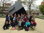 D-SIP interns learn all about philanthropy on campus during the philanthropic tour--did you know the Cube was a class gift?