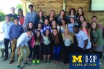 For the 2014 retreat, the interns went to Petoskey, Michigan. Here is a group shot taken while refueling.