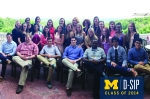 The group enjoyed being Up North; here the interns are relaxing before heading over to visit with a U-M donor.