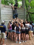 Interns visited Camp Michigania and did the low ropes course. This experience was made possible by the 2012 cohort's class gift.