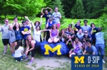 Almost every D-SIP class has been able to take a picture at the Camp Michigania rock. We loved capturing this moment of D-SIP 2014.